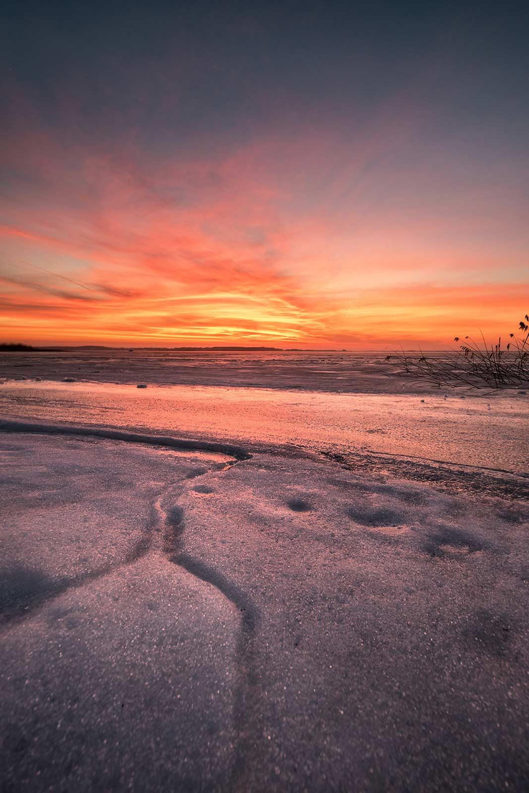 Fotograf Insel Usedom Sonnenuntergang Achterwasser Strand Landschaftsfoto