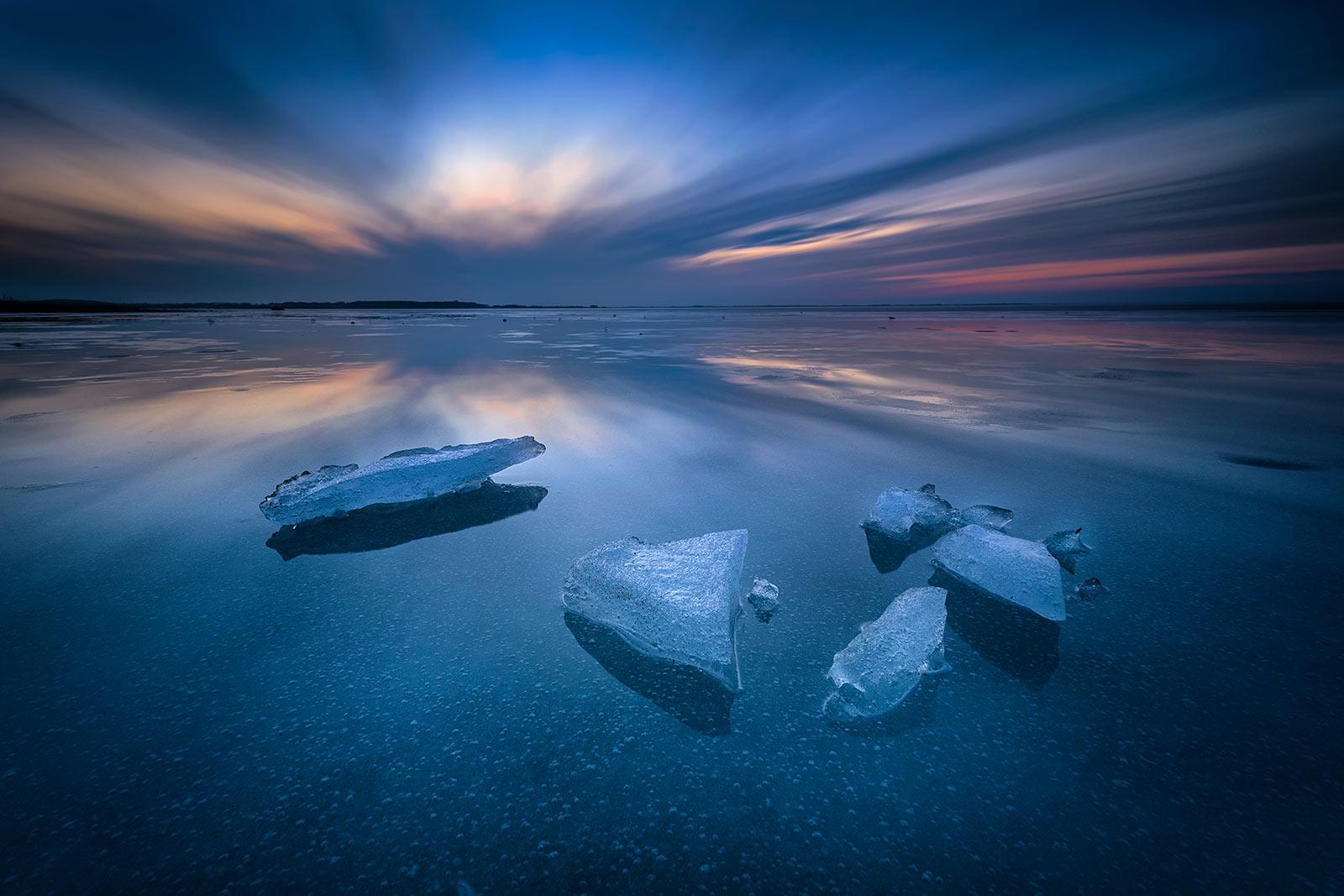 Insel Usedom Winter Eis Achterwasser