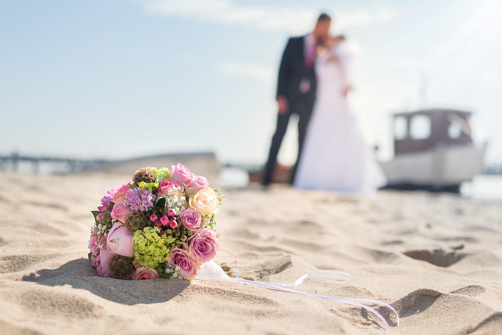 Porträtfoto Usedom Sonnenuntergang Strand Shooting Hochzeit Hozeitsfotograf