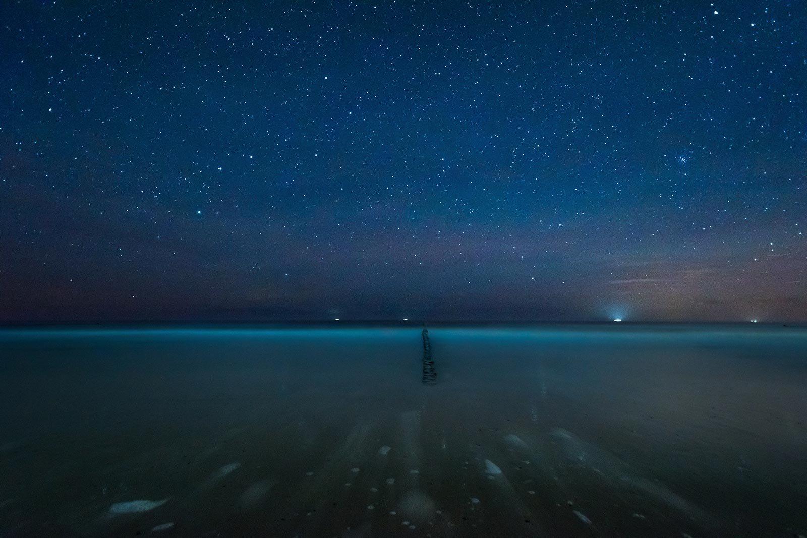 Fotograf Insel Usedom Ostsee Strand nacht Sterne Landschaft