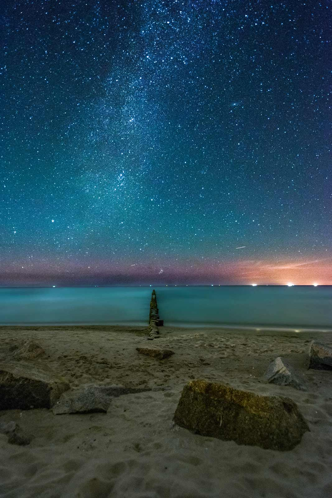 Nacht Ostsee Strand Insel Usedom Sterne