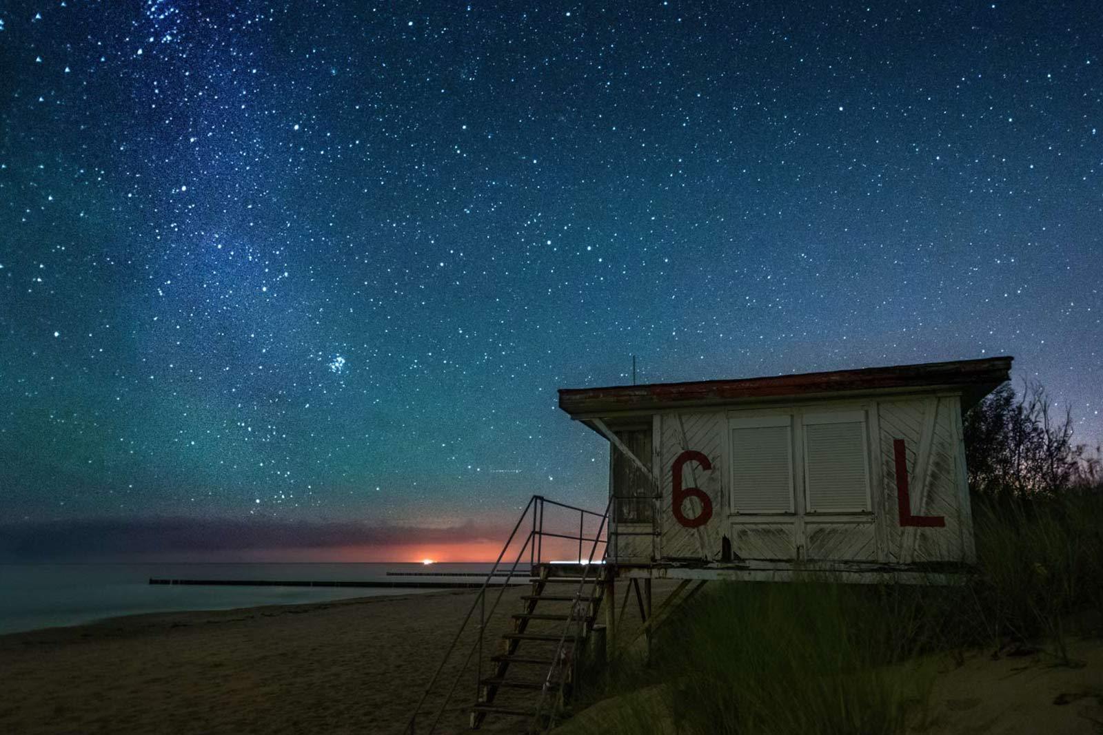 Insel Usedom Fotograf Landschaft Strand Ostsee Sterne Koserow