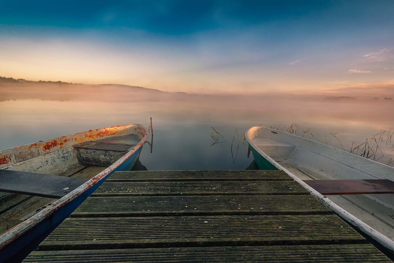Morgennebel am Schmollensee