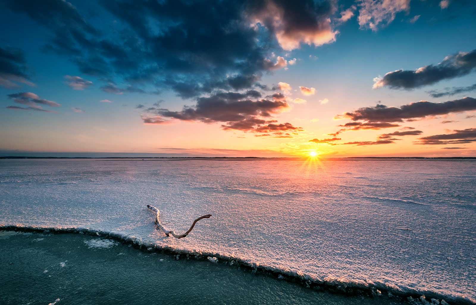 Insel Usedom Sonnenuntergang Achterwasser