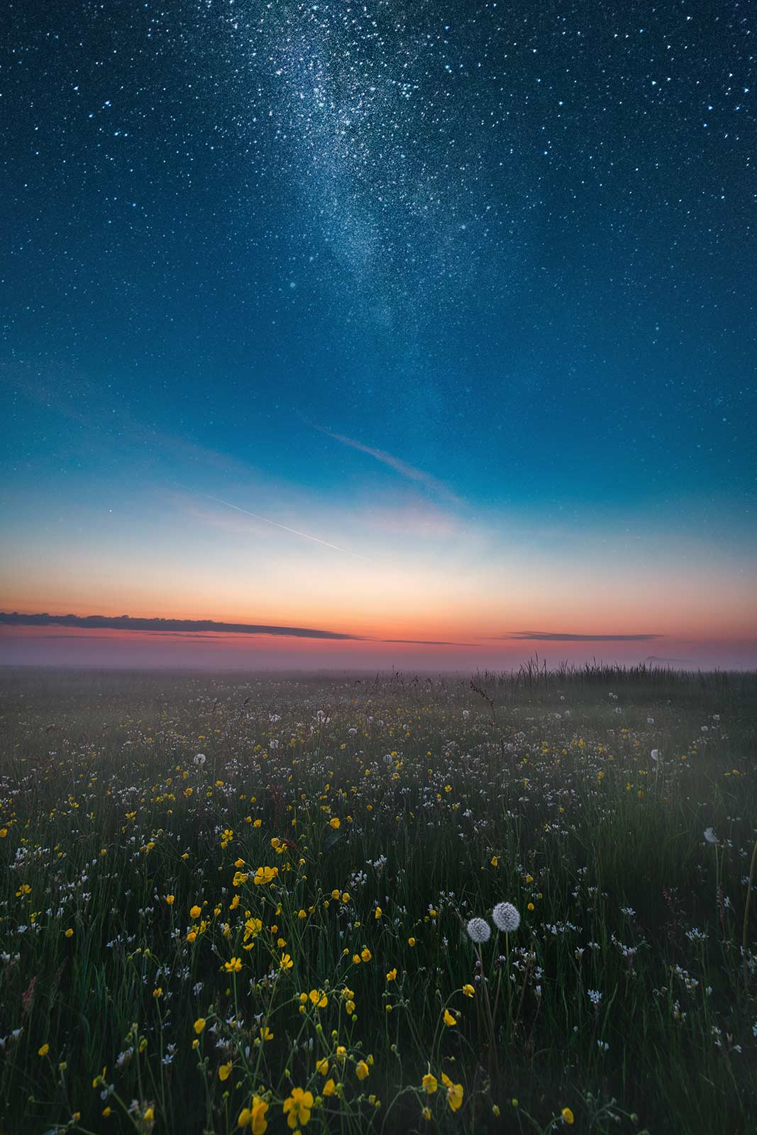 Nacht Achterland Sterne Insel Usedom